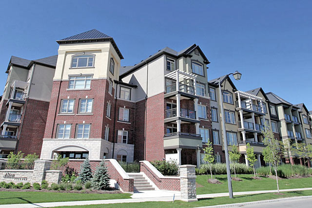 3060-3070 Rotary Way, Burlington - Cornerstone In Alton Village condominiums.