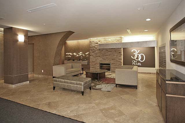 Lobby seating area.